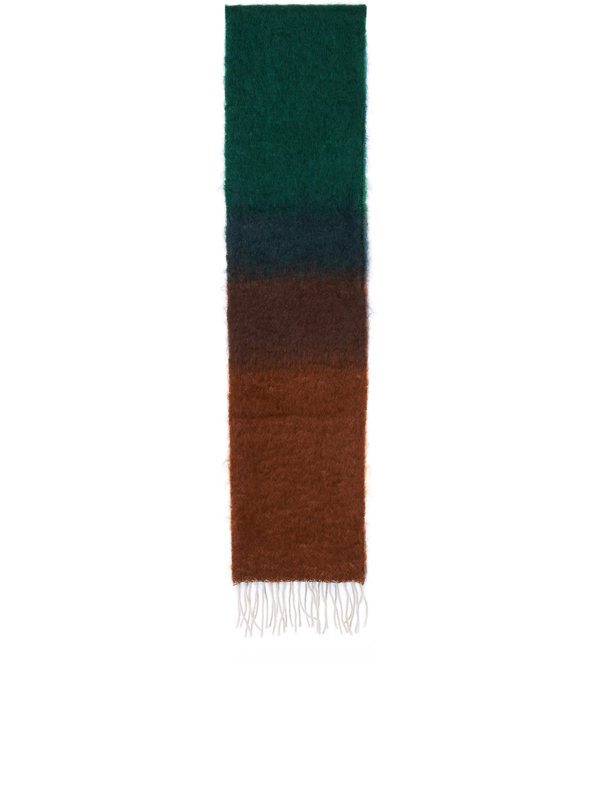 Striped Scarf (F810487X15-DARK-BROWN-GREEN)