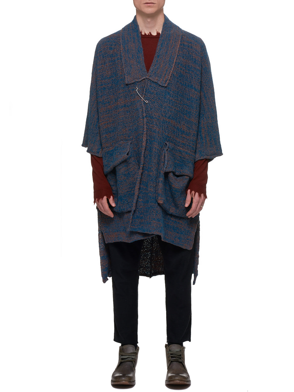 Fabriano Oversized Knitted Cardigan (FABRIANO-PETROL-RUST)