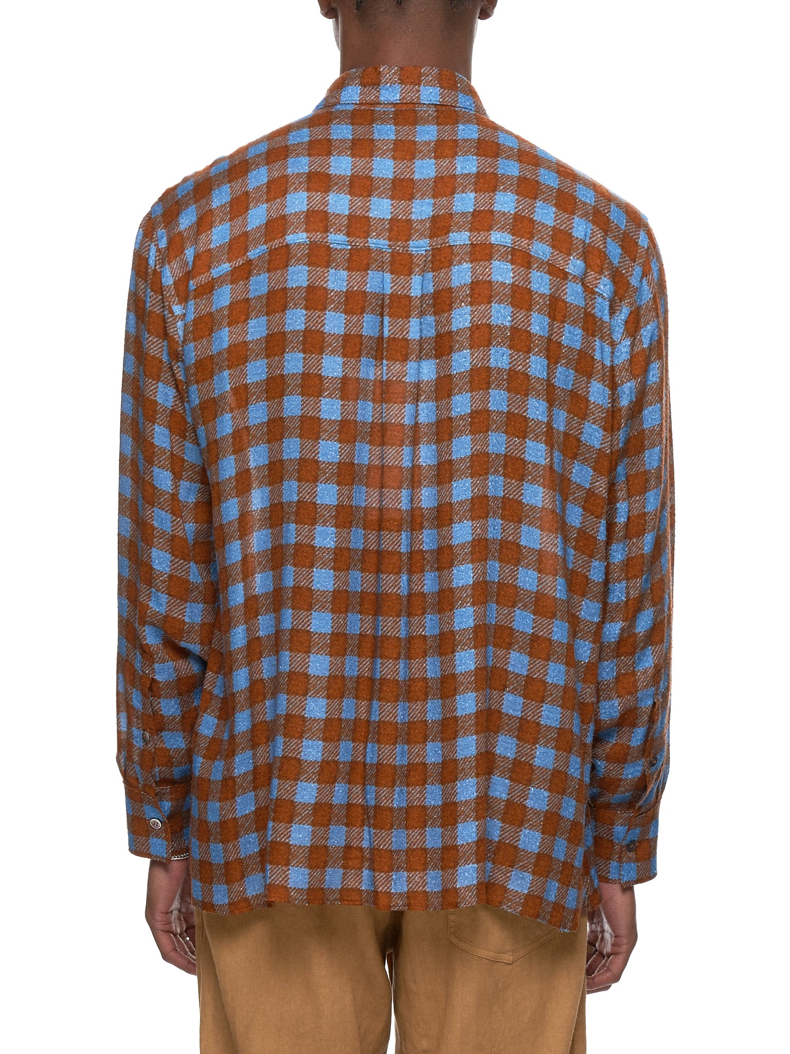 Federico Curradi Check Shirt - Hlorenzo Back