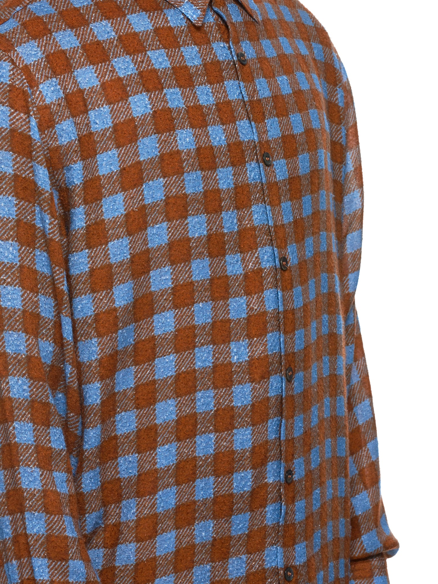 Federico Curradi Check Shirt - Hlorenzo Detail 3