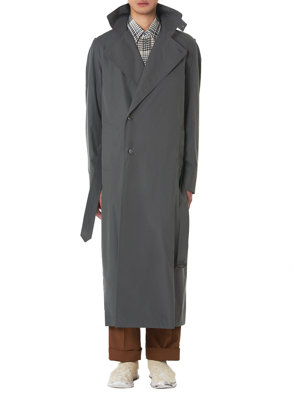 Federico Curradi Trench Coat - Hlorenzo Front