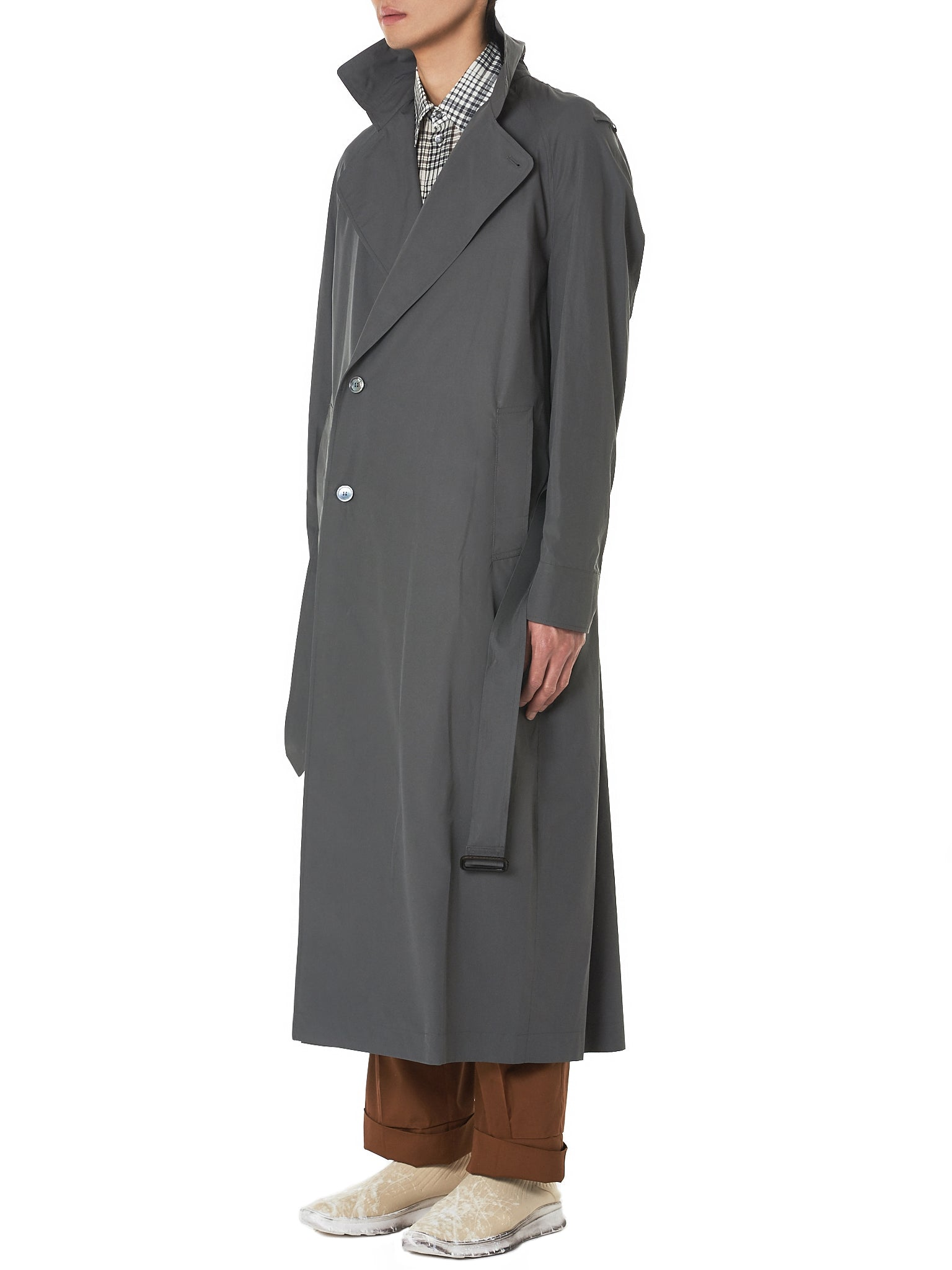 Federico Curradi Trench Coat - Hlorenzo Side