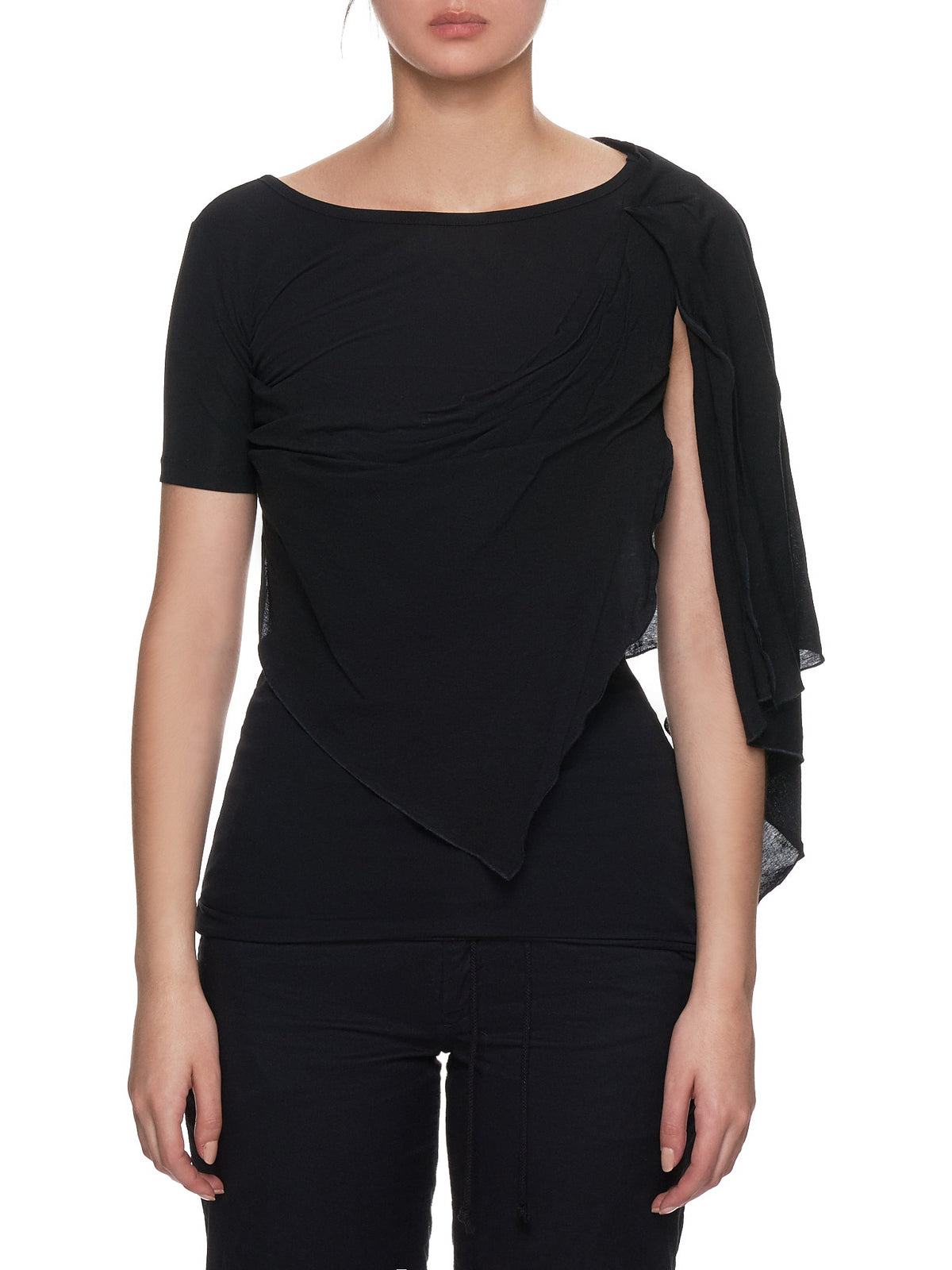 Asymmetrical Cape Top (FH-T11-077-BLACK)