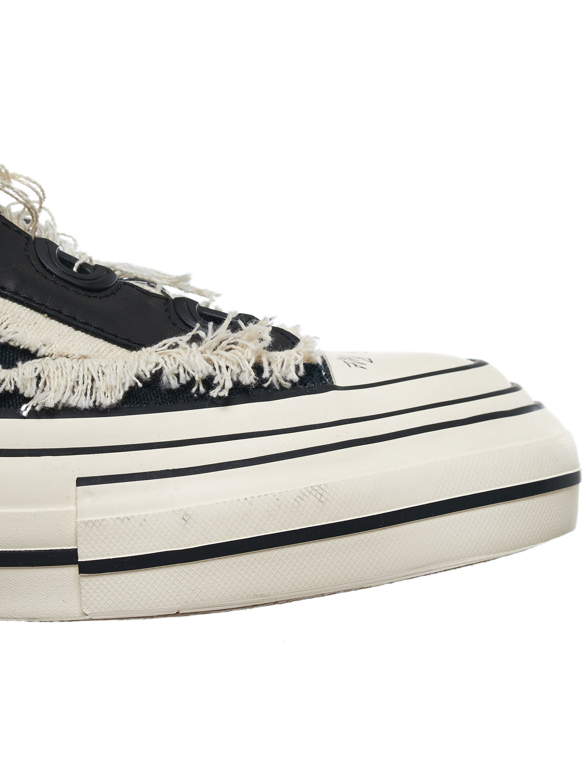 Patchwork Platform Sole Sneakers (FN-E01-060-BLACK-WHITE)