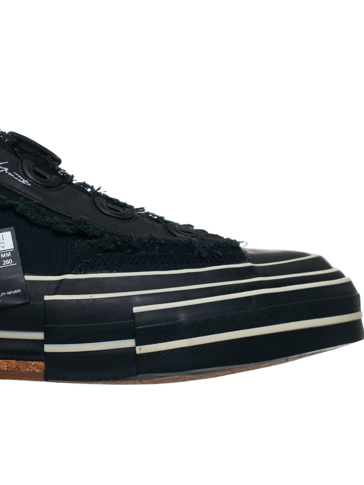 Patchwork Platform Sole Sneakers (FN-E02-061-BLACK)