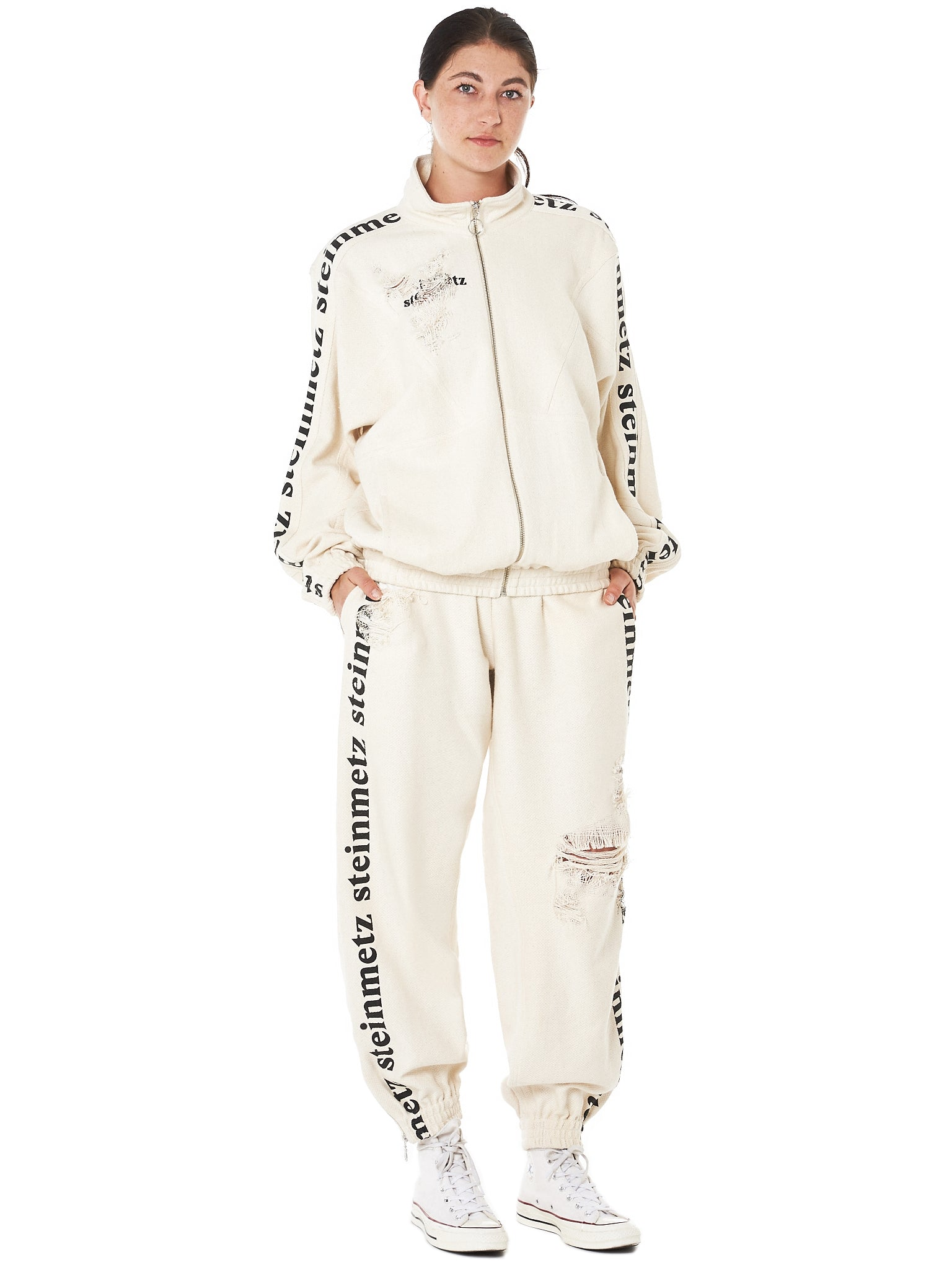 Pulled Weave Jogger (FS0054-WHITE)