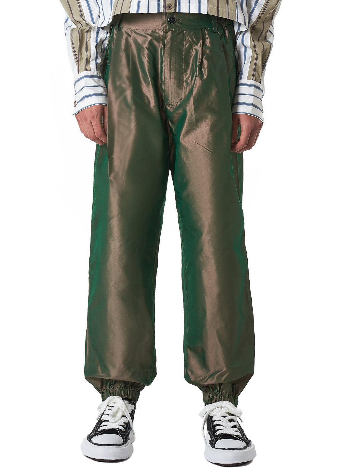 Pleated-Front Trackpants (FS07TRO504-GREEN)