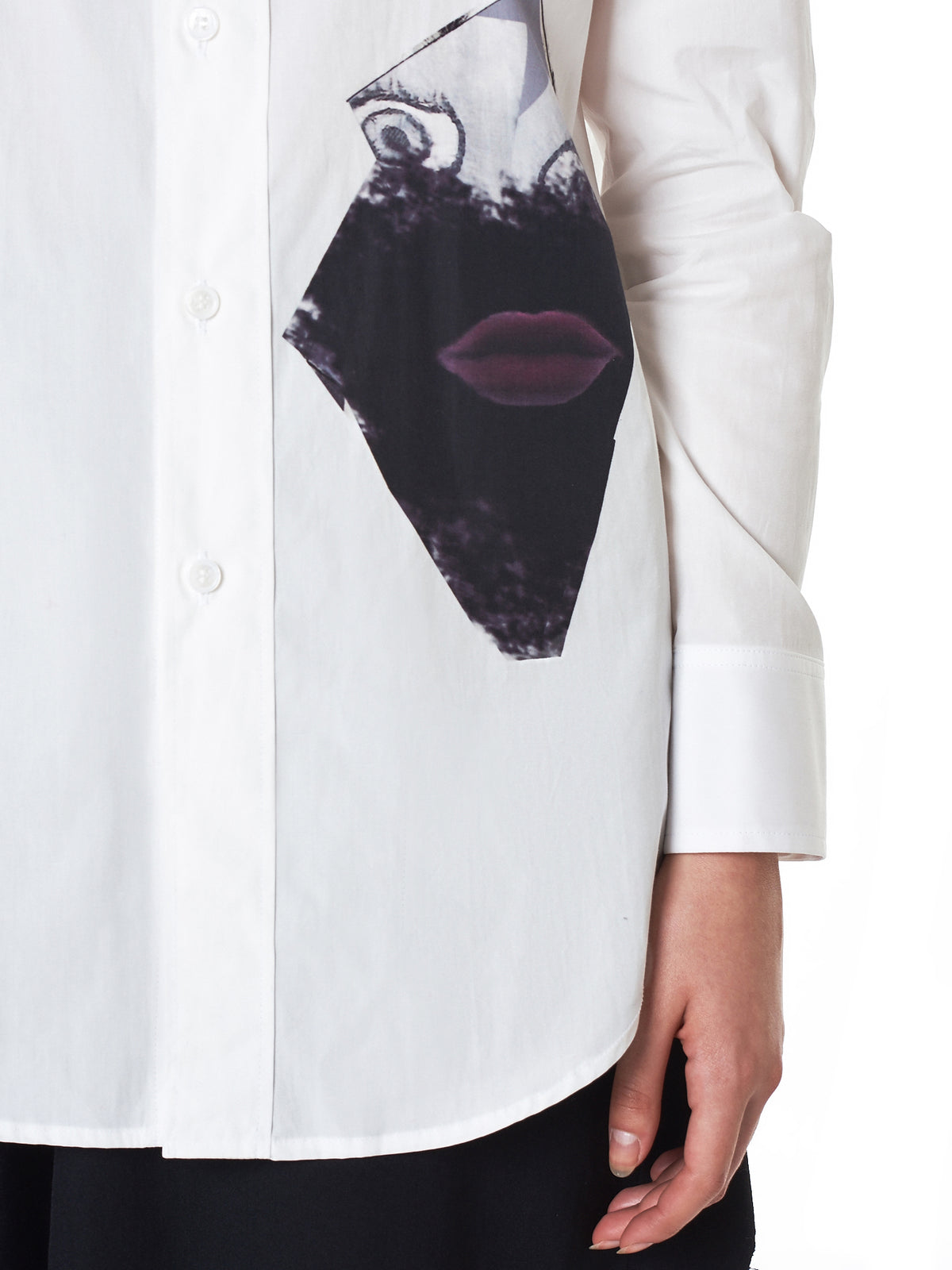 Double Collar 'Gore' Shirt (FV-B04-007-WHITE)