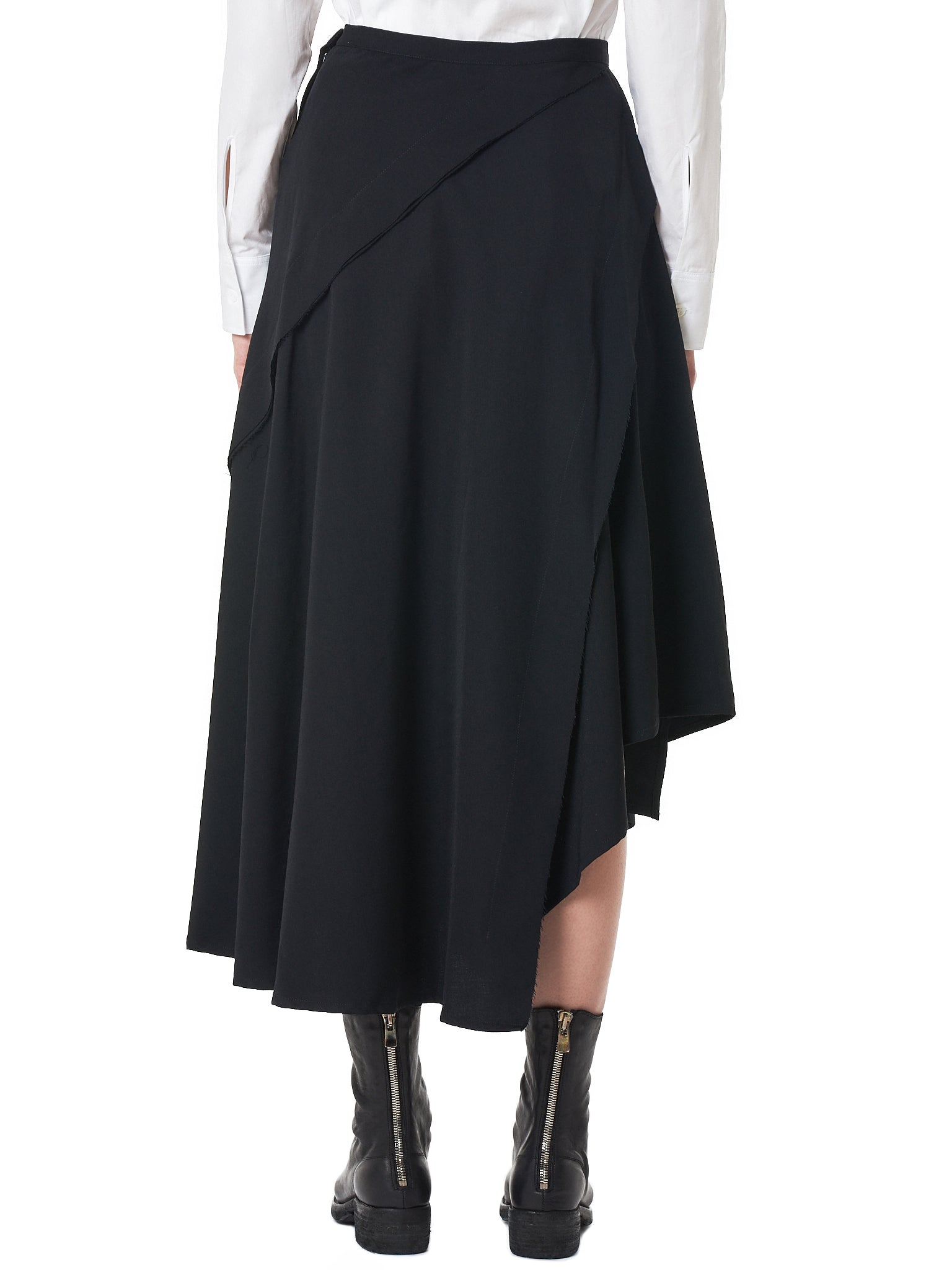 Canted Panel Skirt (FV-S11-100-BLACK)