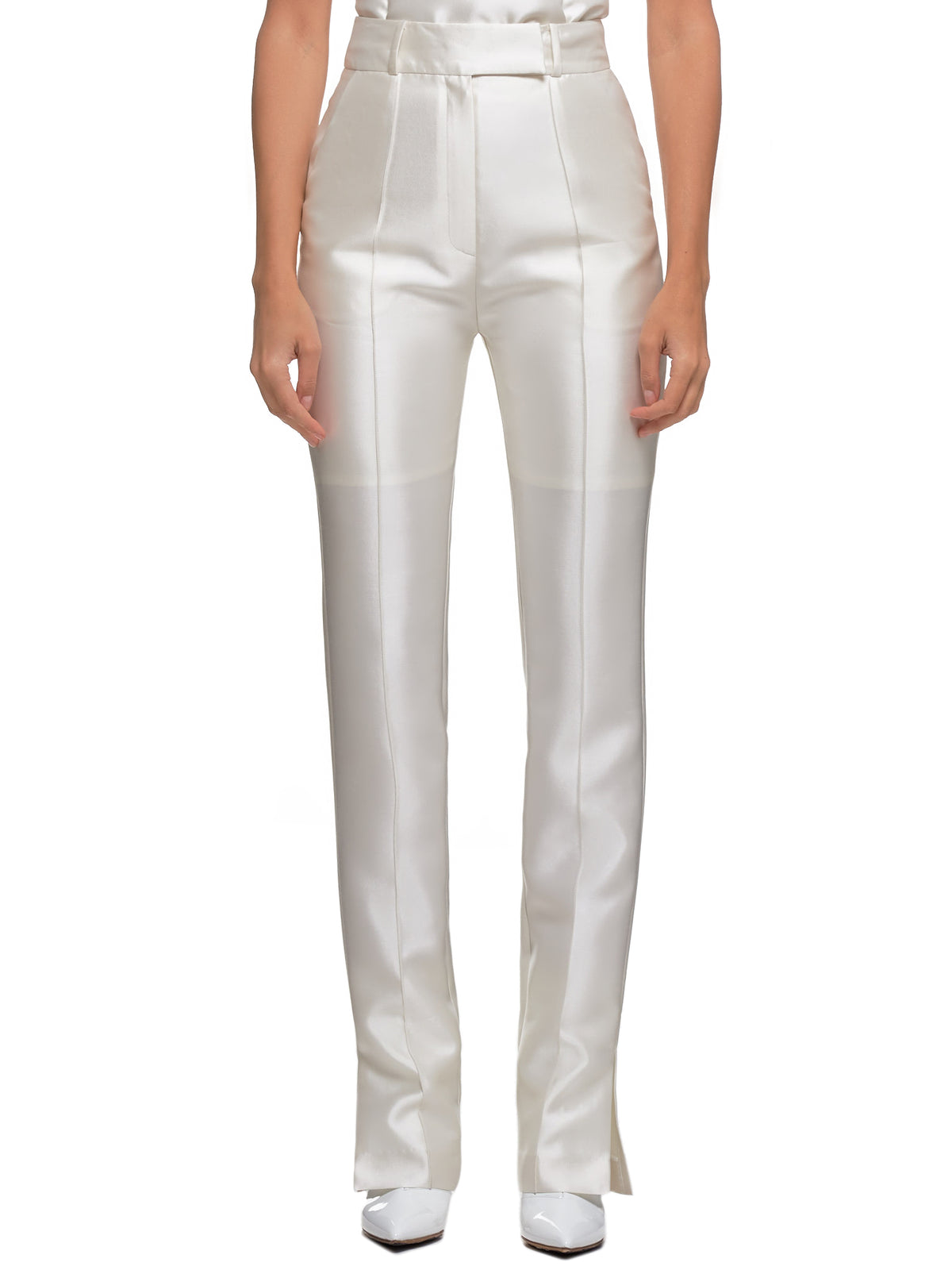 Satin Trousers (FW19C-PT01-WHITE)
