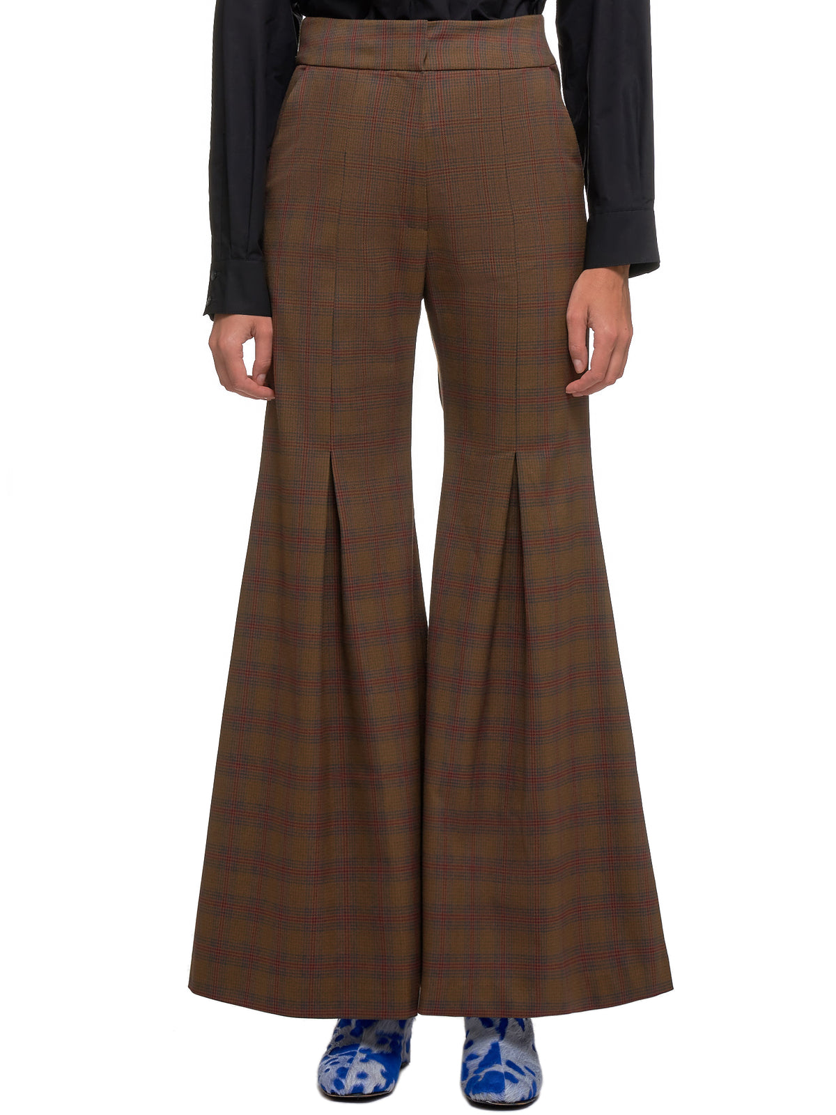 Flared Trousers (FW19-PT01B-BROWN)