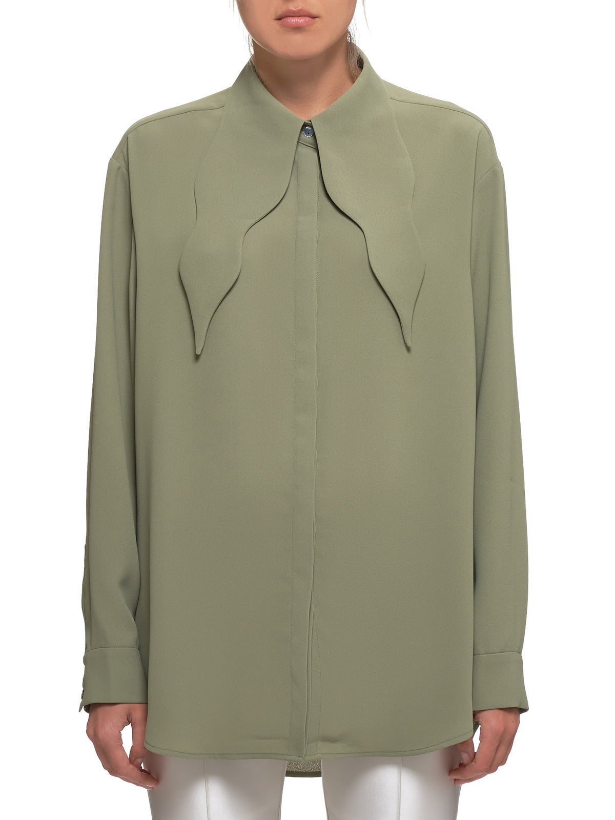 Crêpe Shirt (FW19-SH09-GREEN)