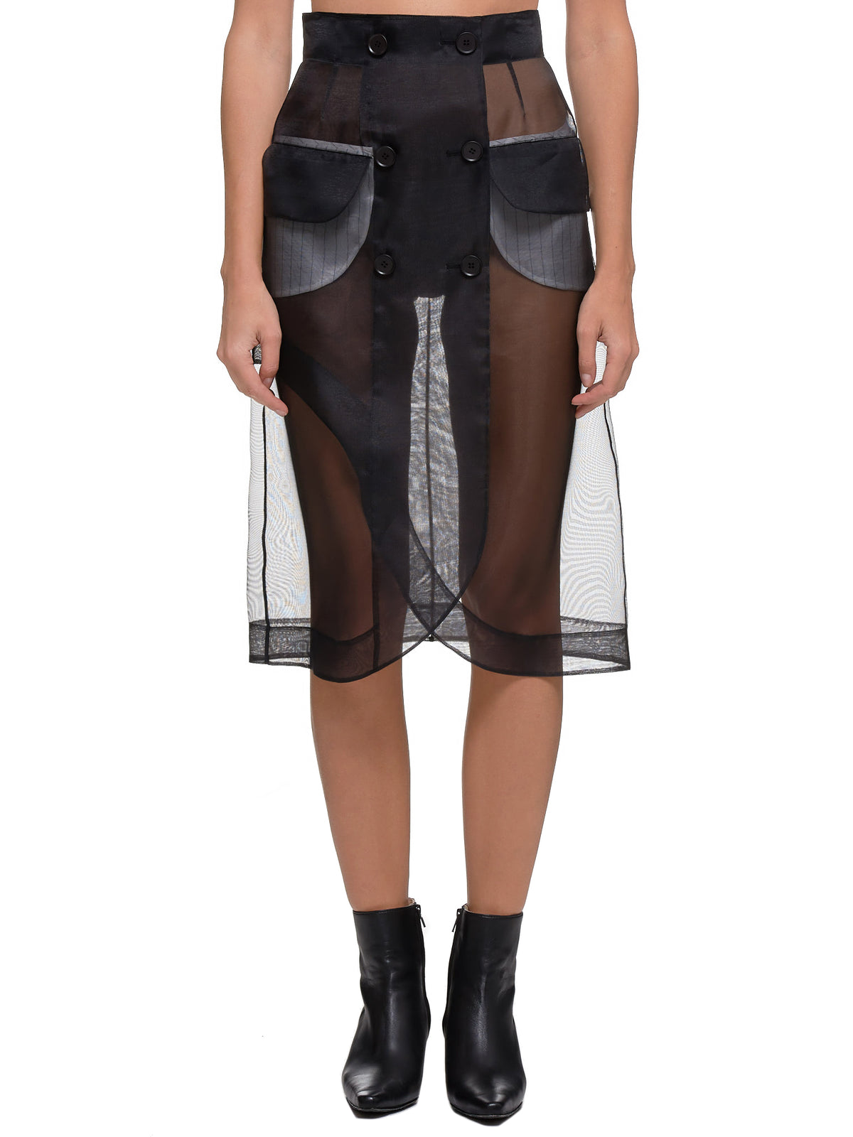 Transparent Skirt (FW19-SK05-BLACK)
