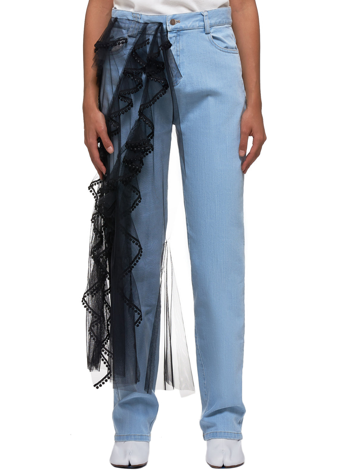 Veiled Denim Jeans (FWP1903-BLUE-BLACK)