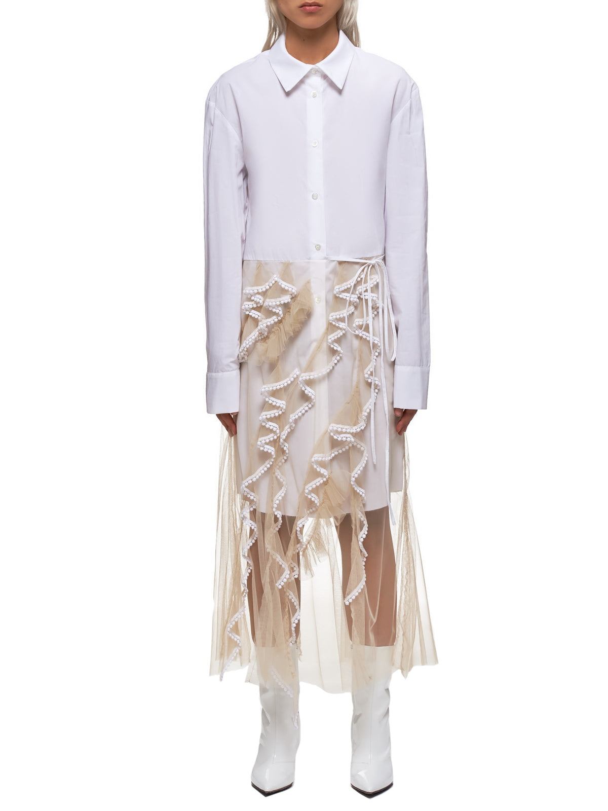 Shirt Dress (FWT1906-WHITE)