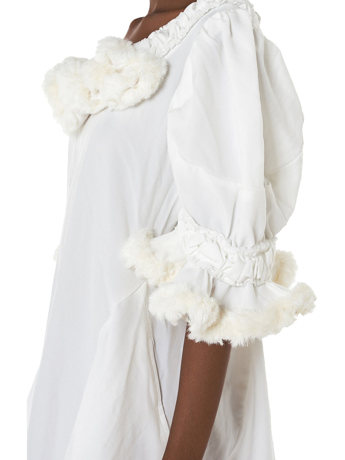 Ruffled Shearling Dress (GA-O049-051-1)