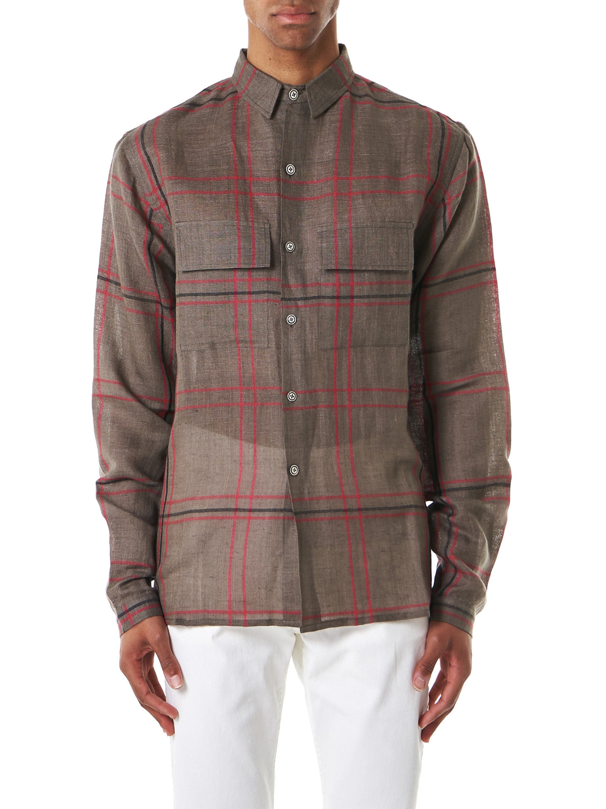 Double-Pocket Flannel (GAUCHO-KHAKI-RUBY-BLACK) - H. Lorenzo