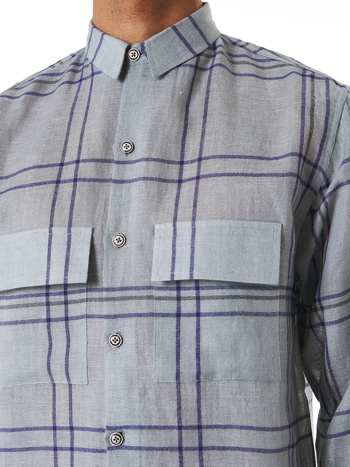 Double-Pocket Flannel (GAUCHO-PURPLERAIN-BURMATEAK) - H. Lorenzo