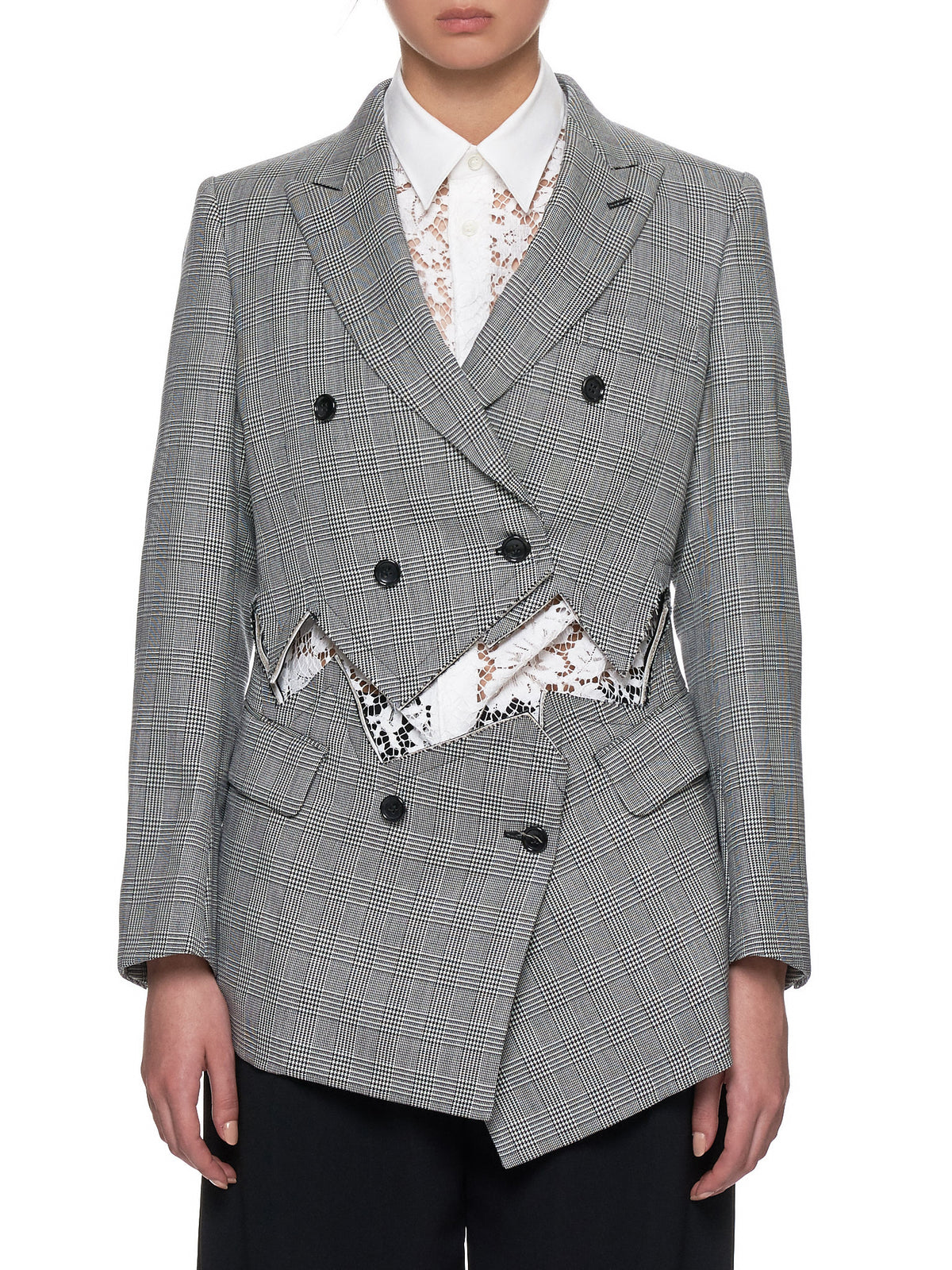Houndstooth Cut-Out Jacket (GC-J005-GREY)