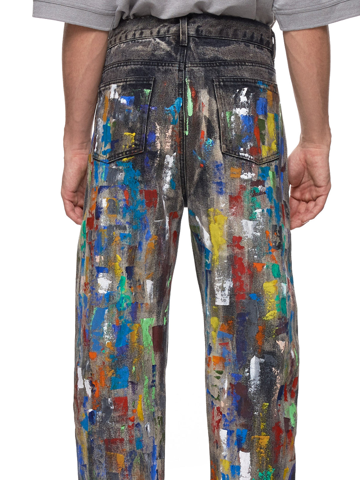Paint-Splattered Jeans (GEO-CUSTOM-DENIM-PANTS-BLACK)
