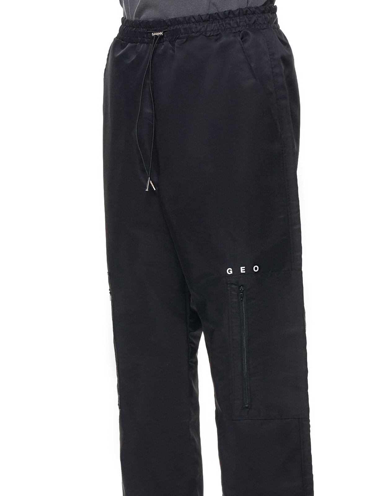 Drawstring Trackpants (GEO-TRACK-PANTS-BLACK)
