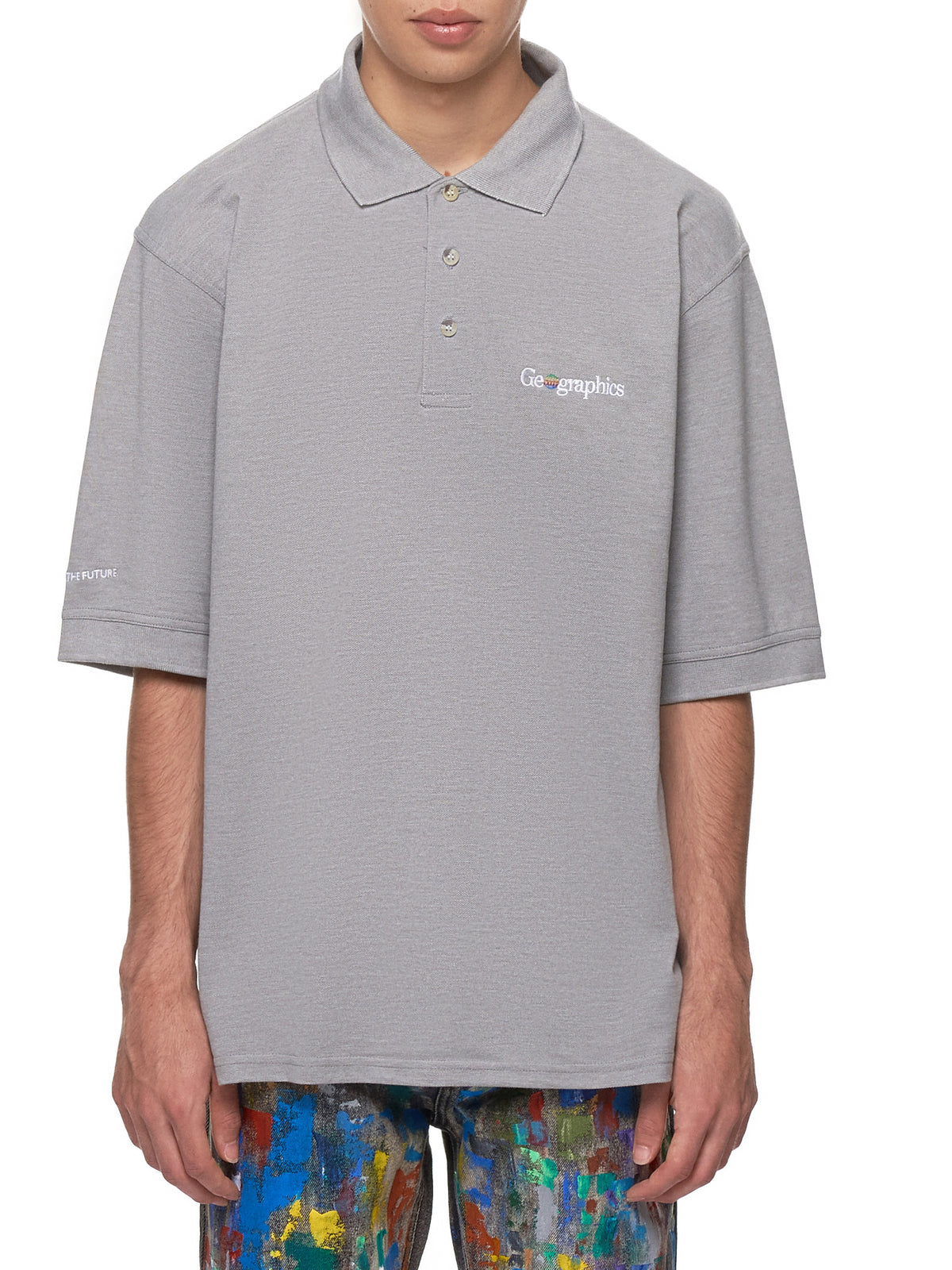 'Geographics' Polo Shirt (GEOGRAPHICS-POLO-GREY)