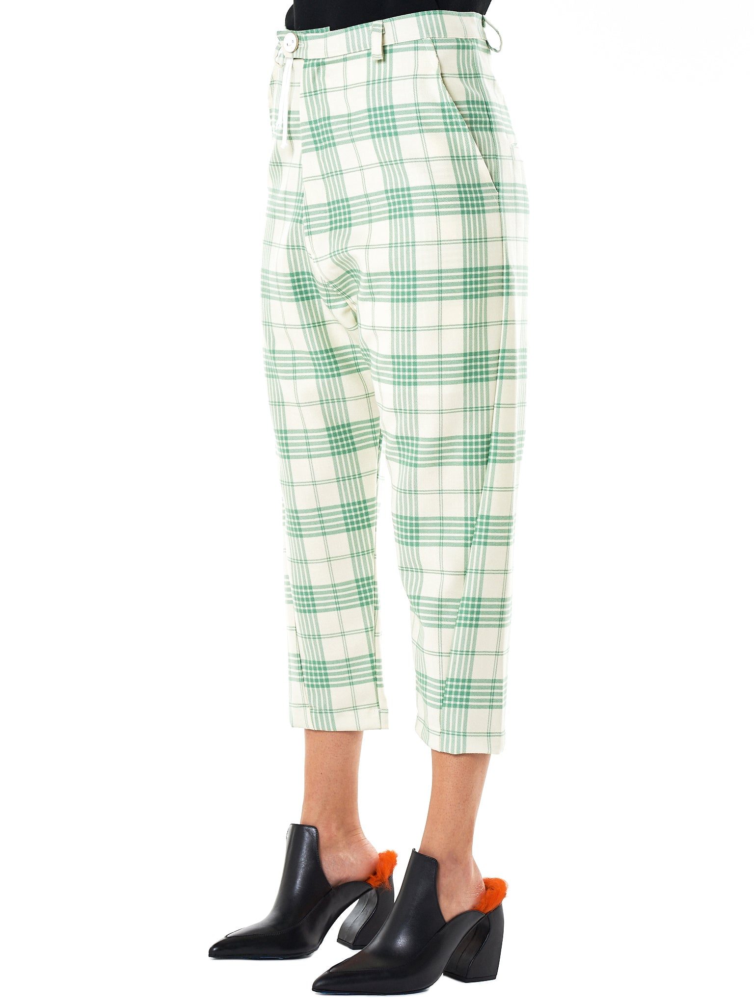 Barbara Bologna Cropped Trouser - Hlorenzo Side