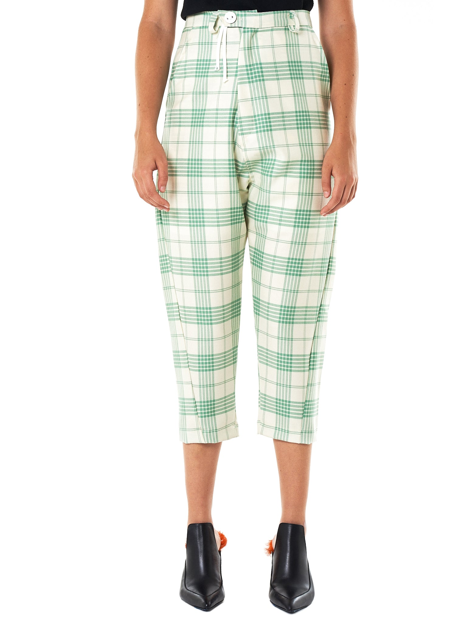 Barbara Bologna Cropped Trouser - Hlorenzo Front