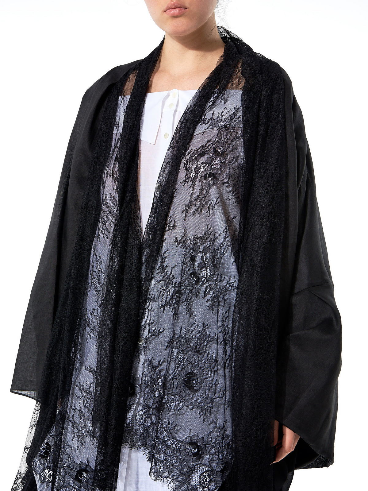Lace Embroidered Cardigan (GLS-JK11-BLACK) - H. Lorenzo