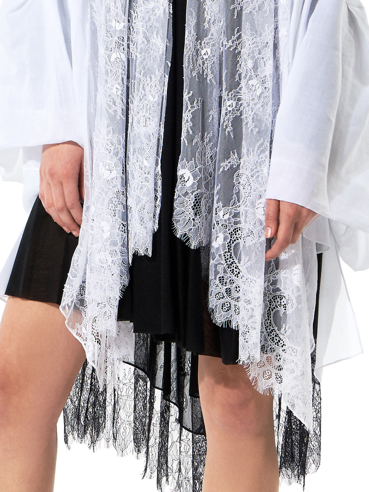 Lace Embroidered Cardigan(GLS-JK11-WHITE) - H. Lorenzo