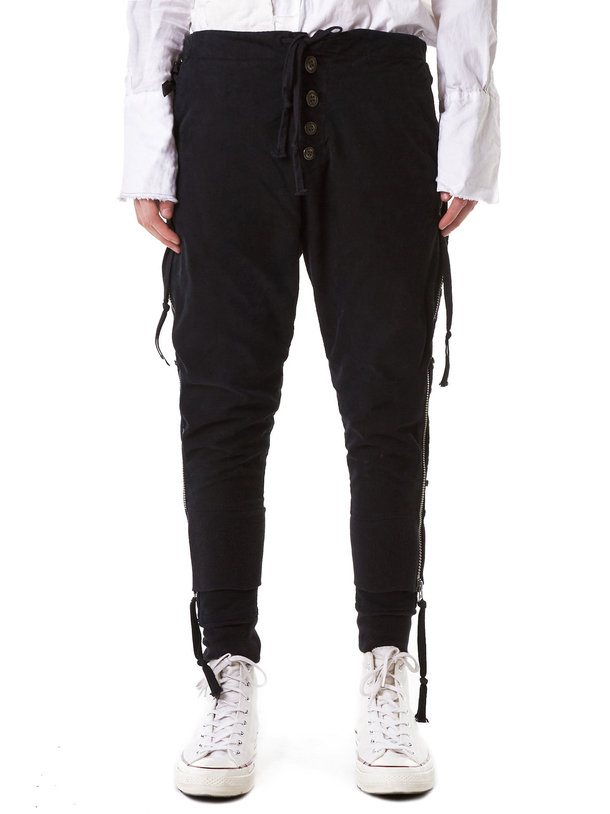 Layered Military Joggers (GLSS17-M217-BLACK) - H. Lorenzo
