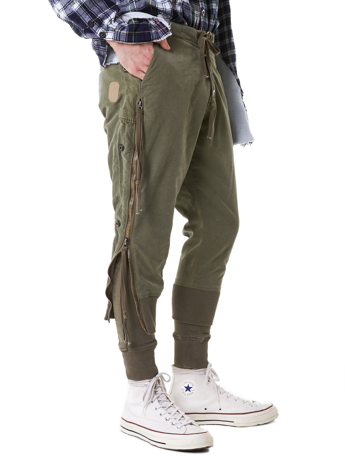 Layered Military Joggers (GLSS17-M218-ARMY) - H. Lorenzo