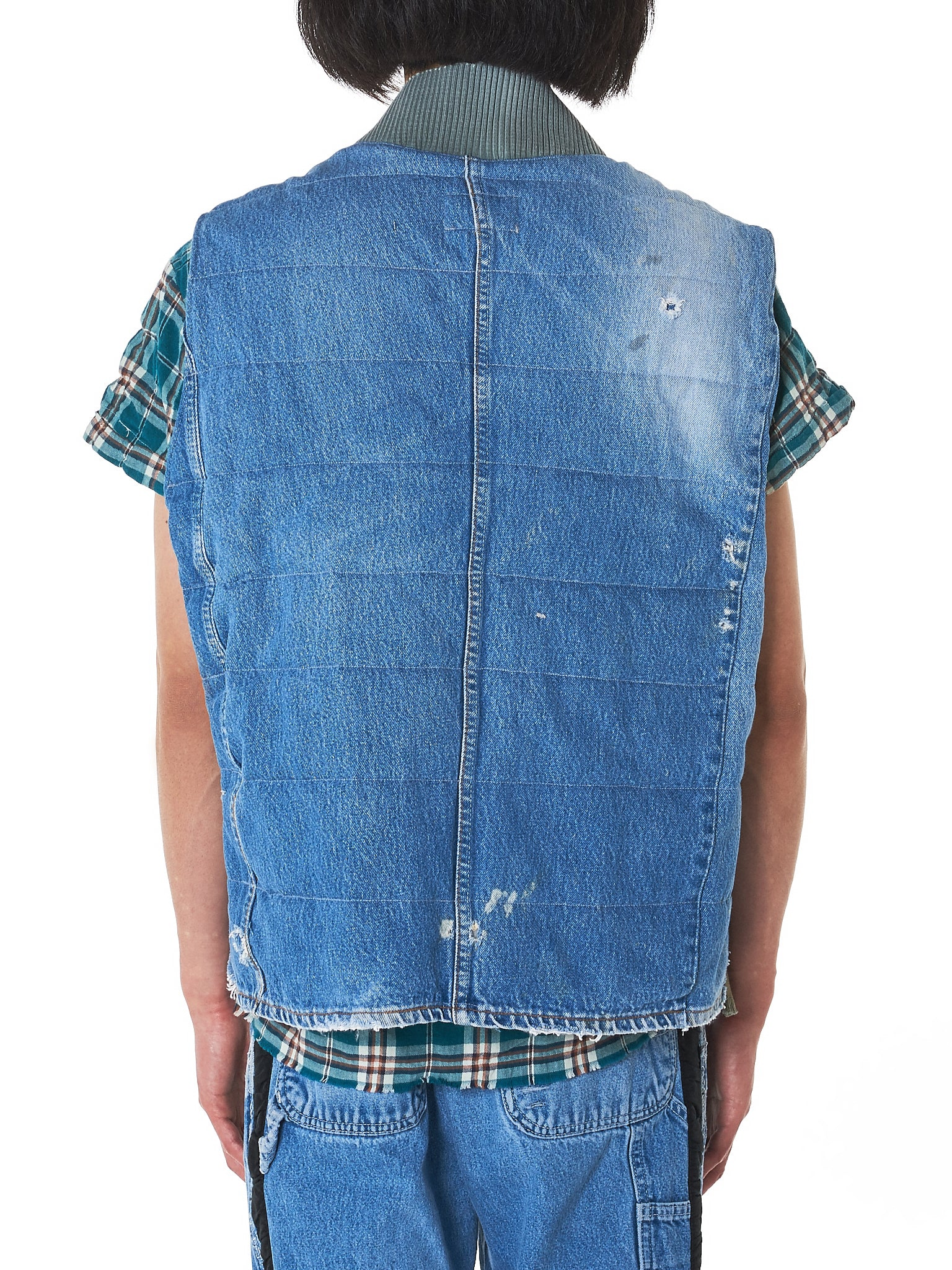 Greg Lauren Denim Vest - Hlorenzo Back