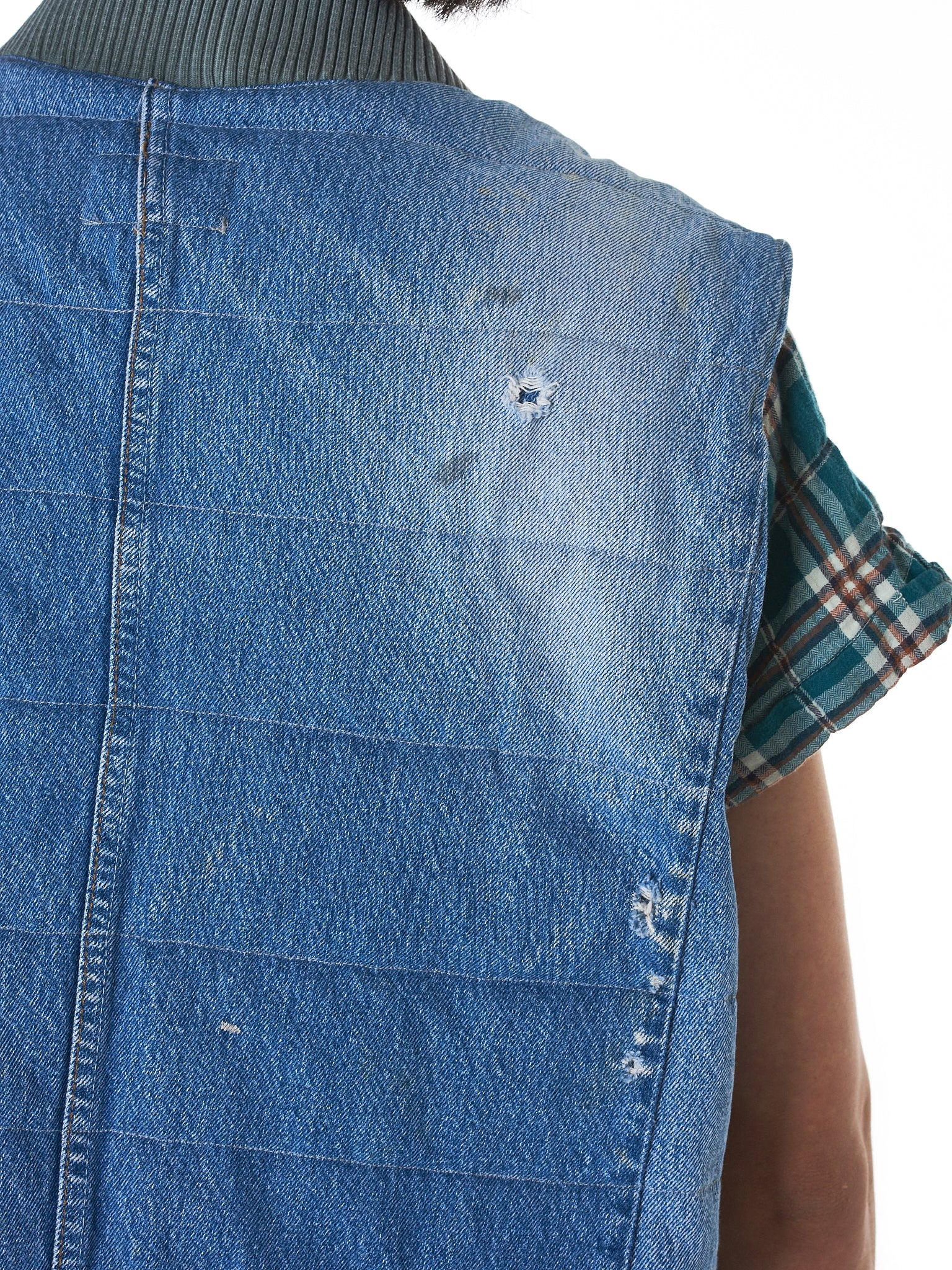 Greg Lauren Denim Vest - Hlorenzo Detail 3