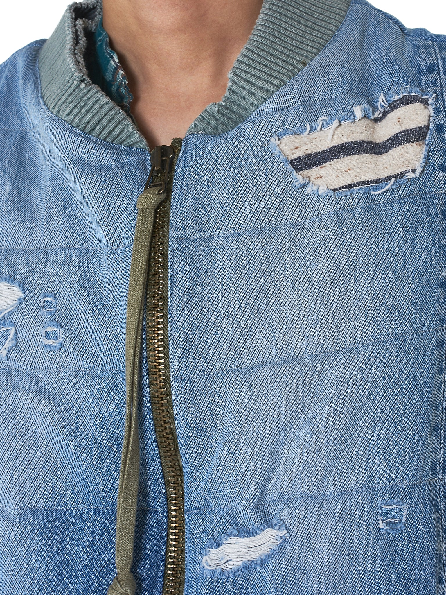 Greg Lauren Denim Vest - Hlorenzo Detail 2