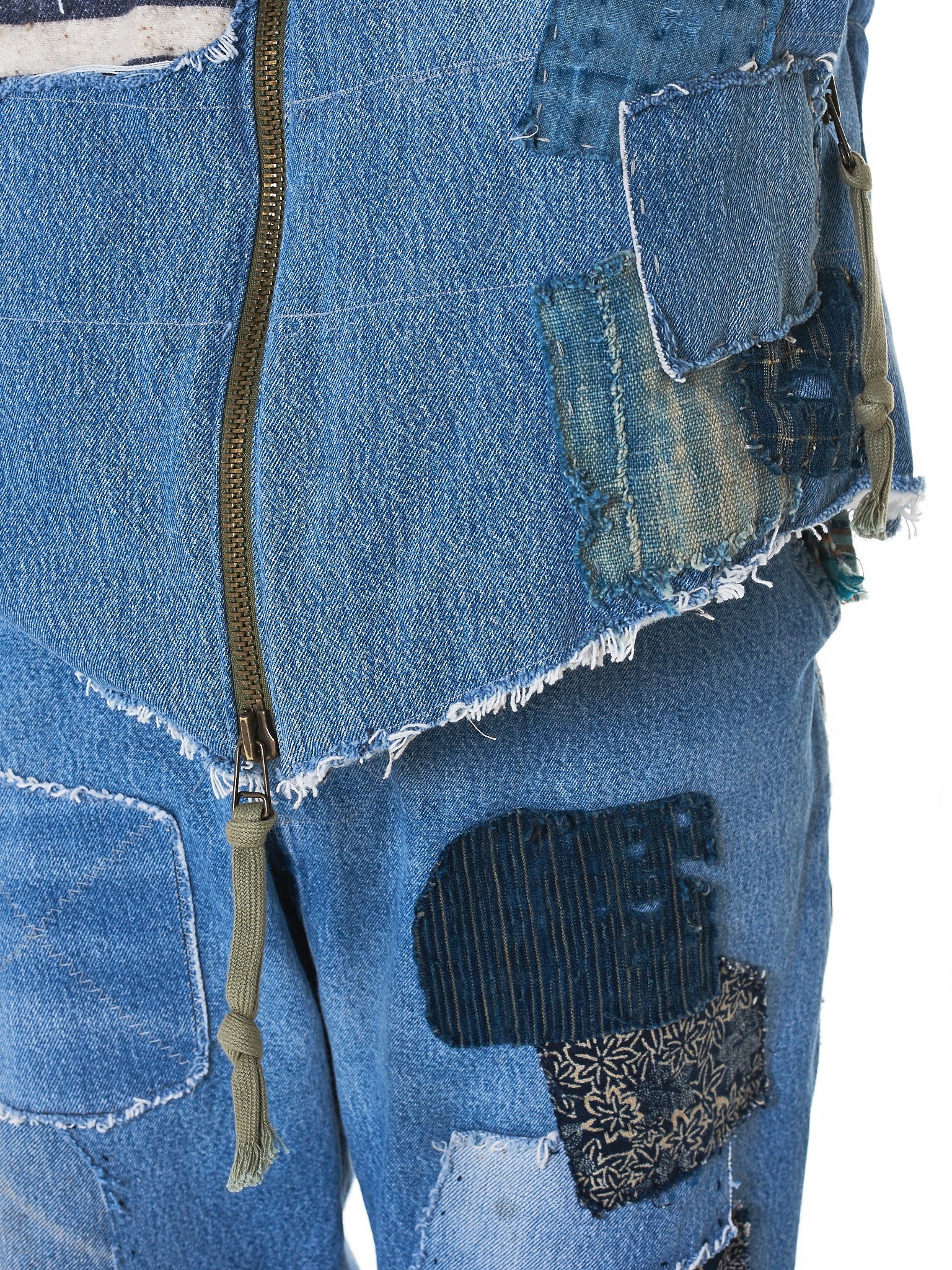 Greg Lauren Denim Vest - Hlorenzo Detail 5