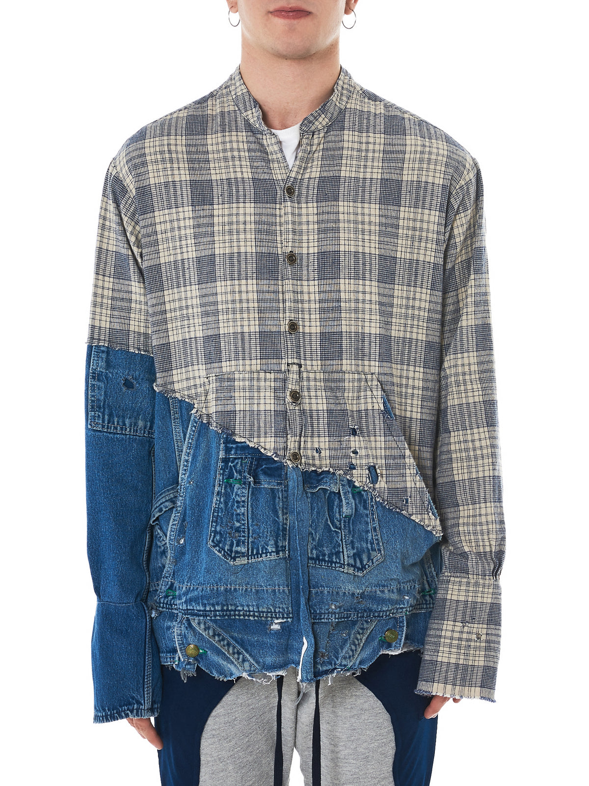Greg Lauren Denim Shirt -HLorenzo Front