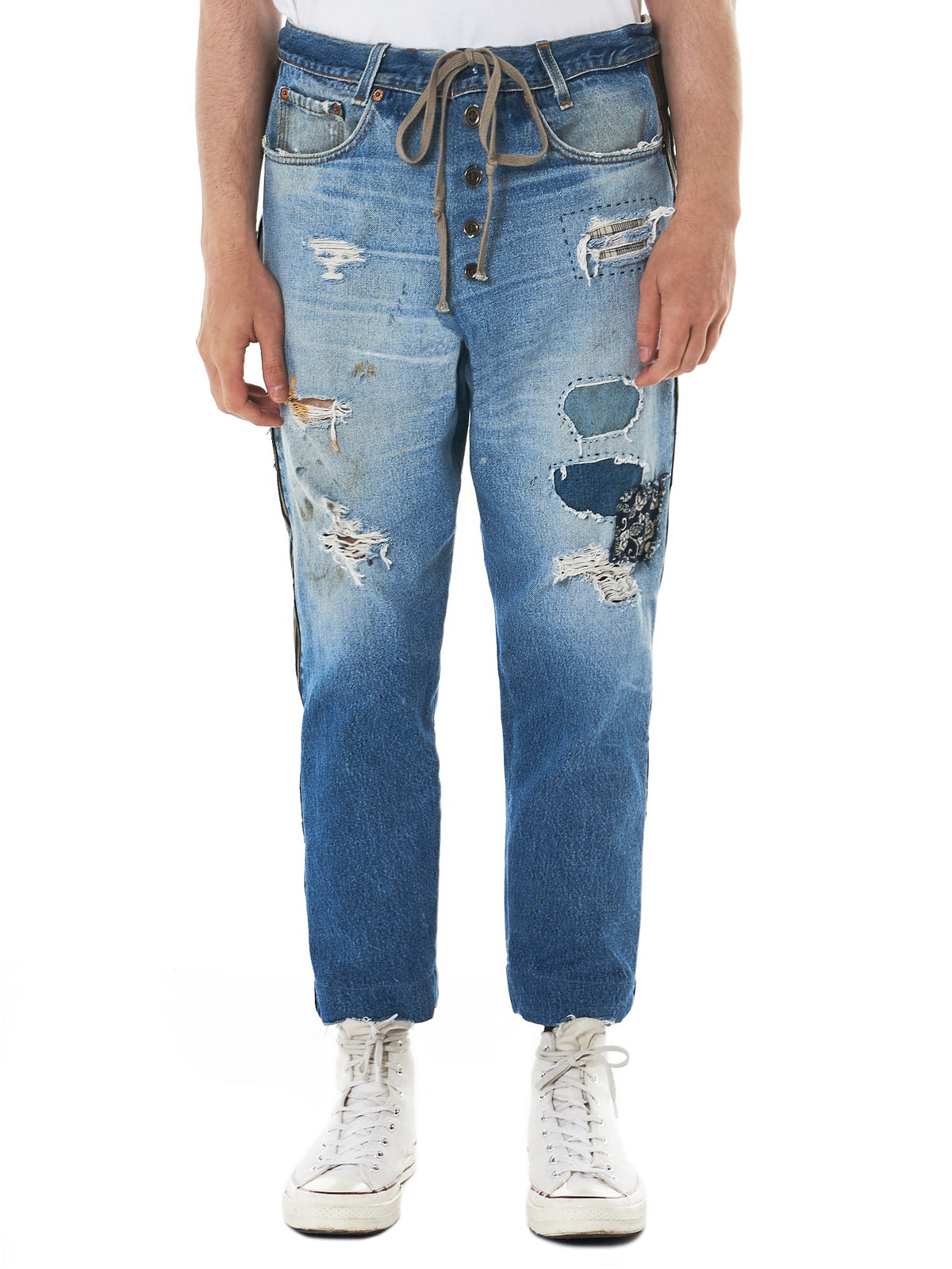 Greg Lauren Denim Patchwork -HLorenzo front