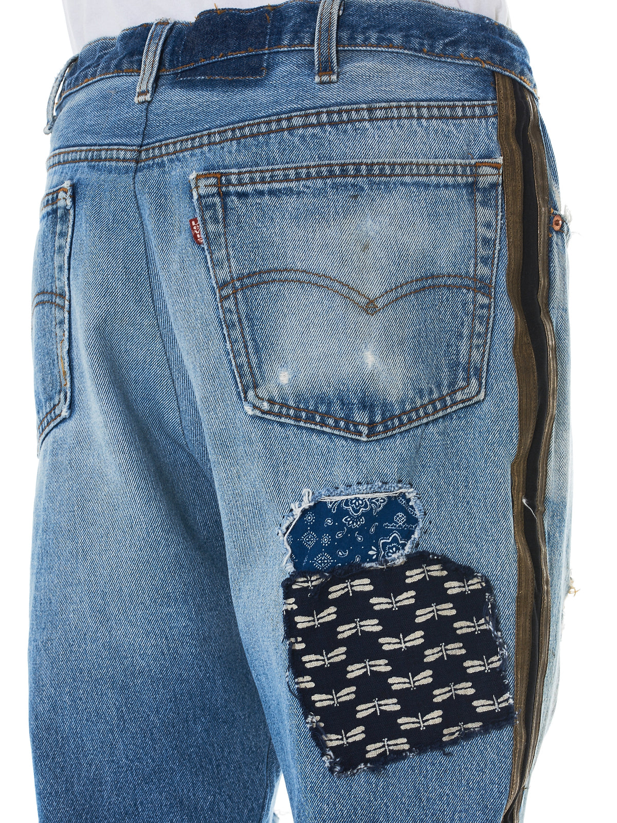 Greg Lauren Denim Patchwork - HLorenzo patchwork detail