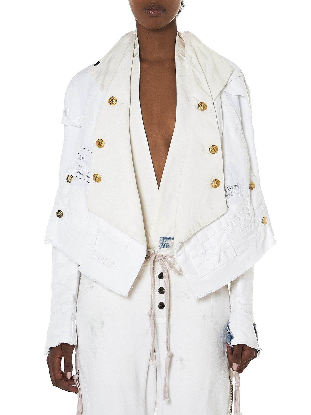 Greg Lauren Cropped Jacket - Hlorenzo Front