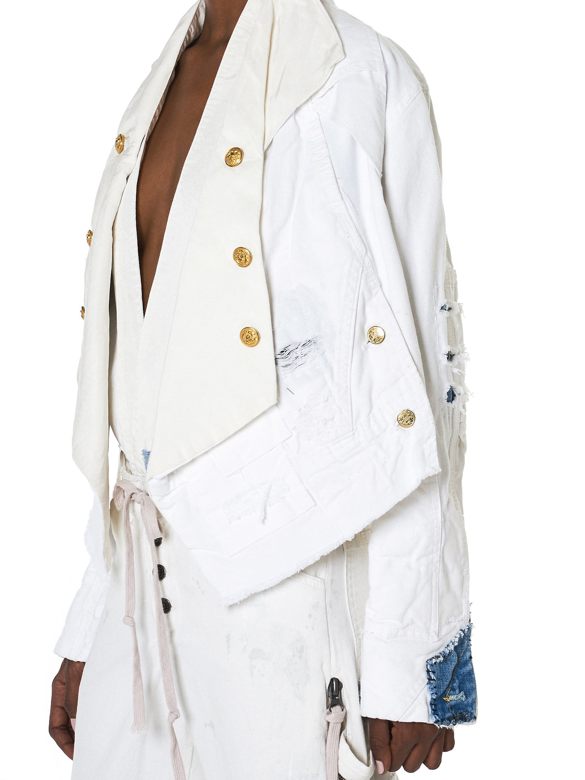 Greg Lauren Cropped Jacket - Hlorenzo Detail 2