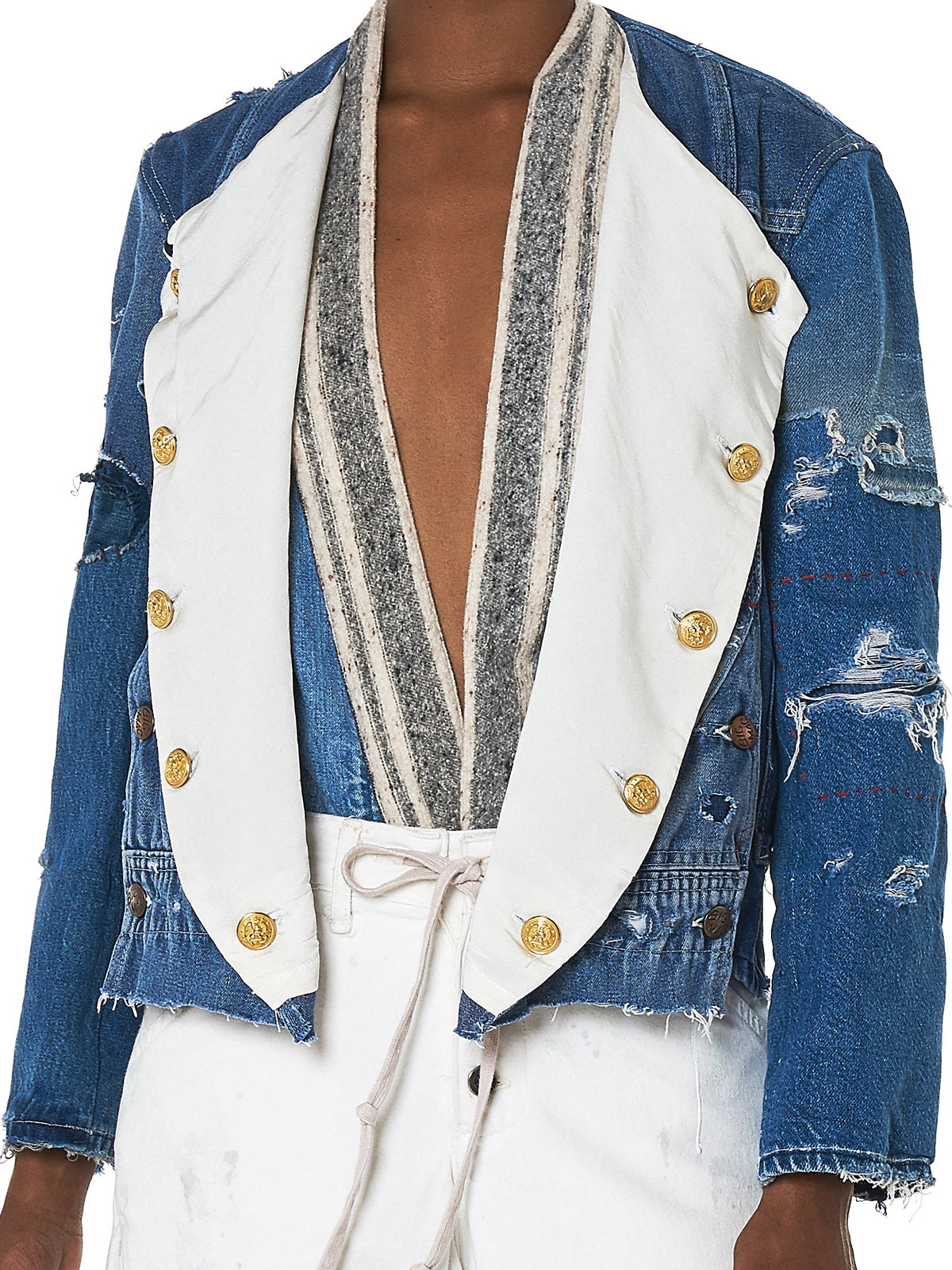 Greg Lauren Denim Jacket - Hlorenzo Detail 2