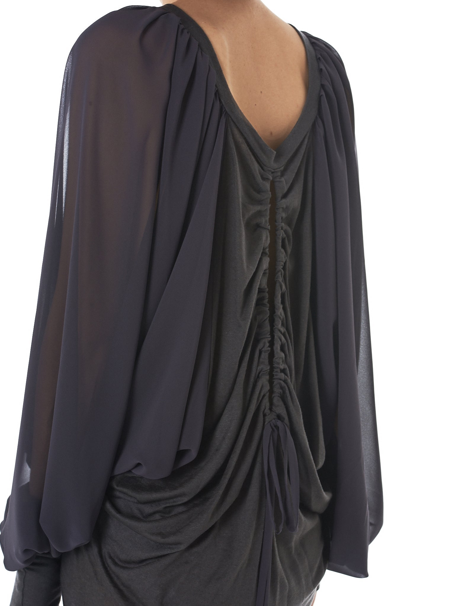 Draped Tencel Dress (GNS-JD133-D-GREY)