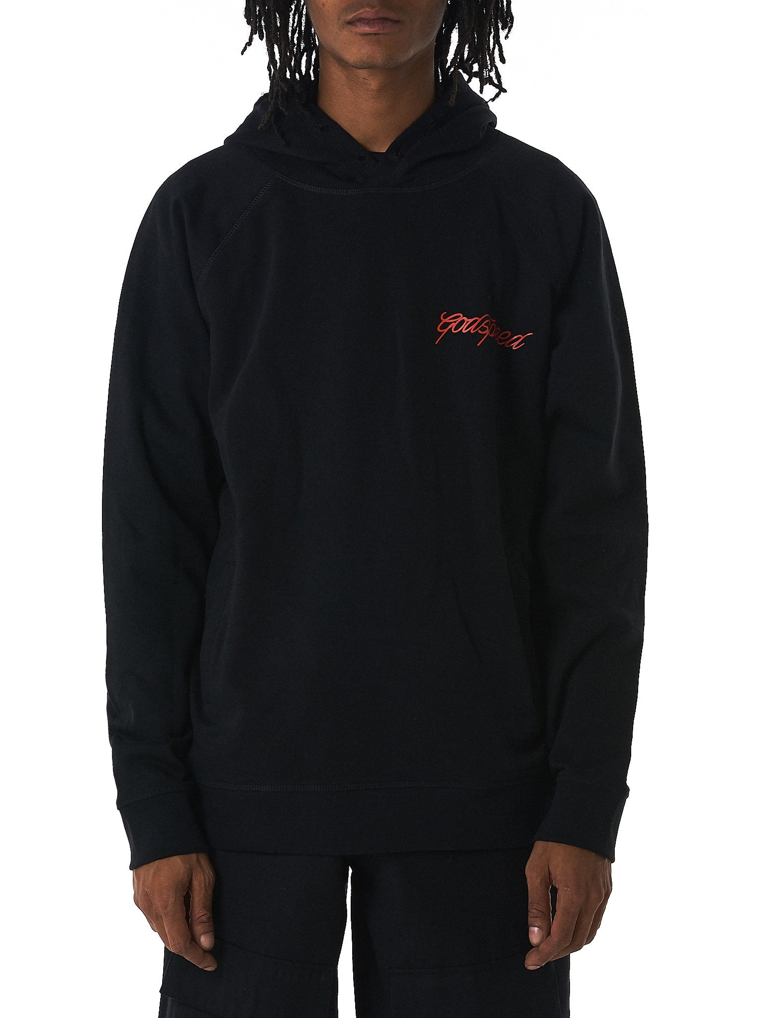 GEO 'Godspeed' hooded sweater hlorenzo front view
