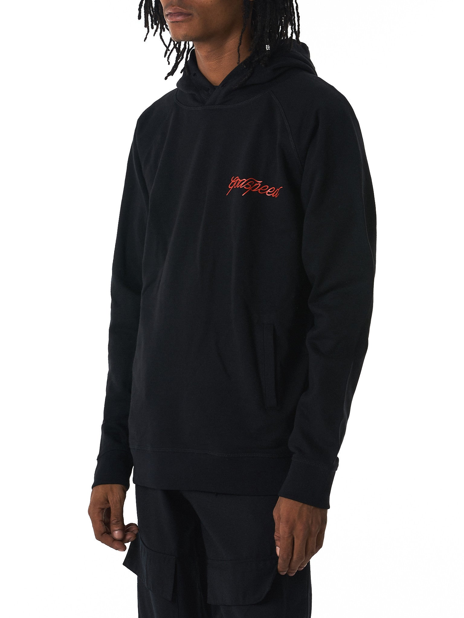 GEO 'Godspeed' hooded sweater hlorenzo side view