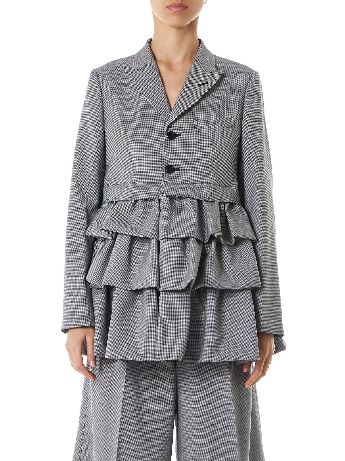 Pleated Blazer Hybrid (GS-J002-051-1) - H. Lorenzo