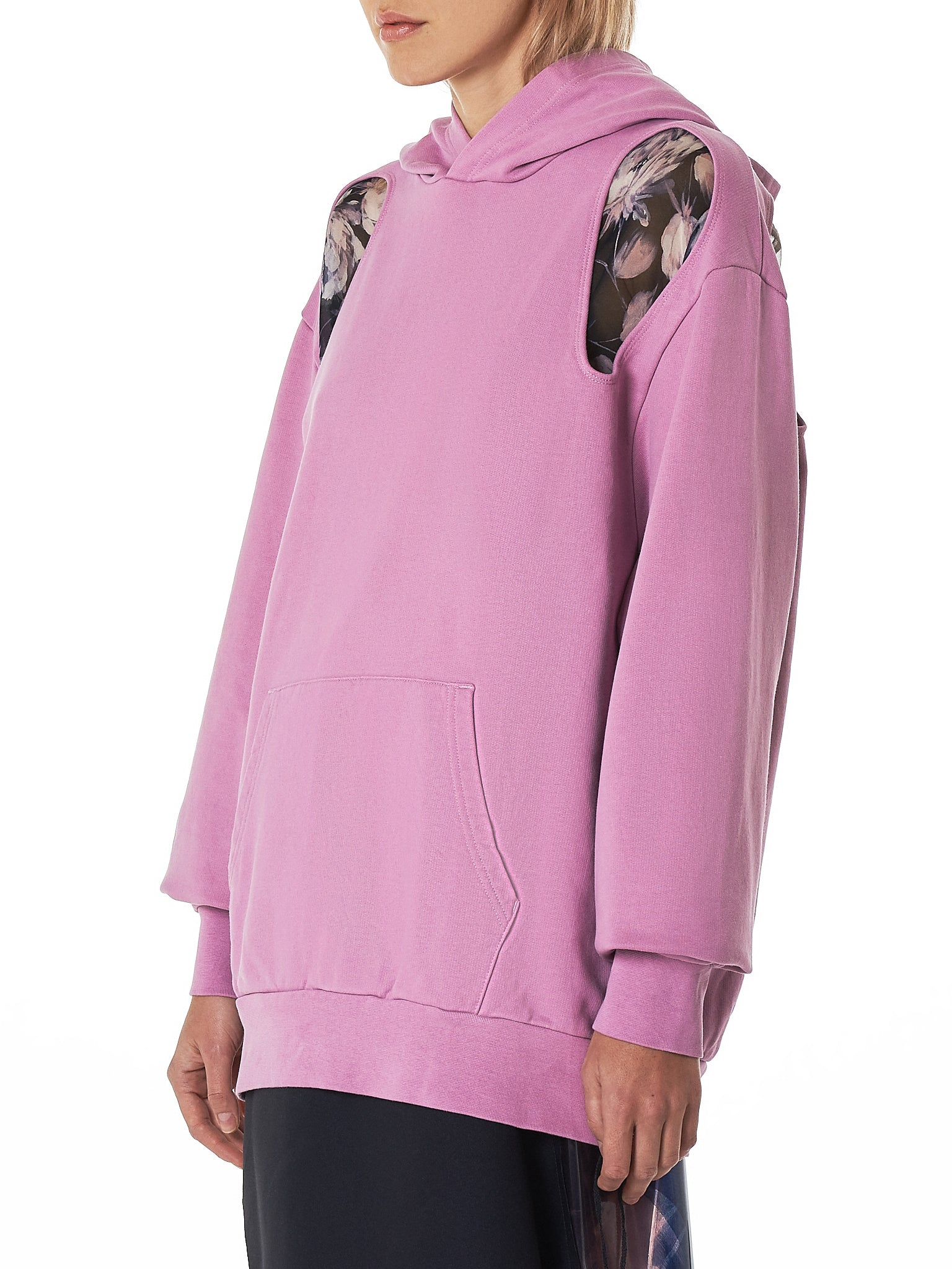 Cut-Out Hooded Pullover (H1158-DUST-PINK)