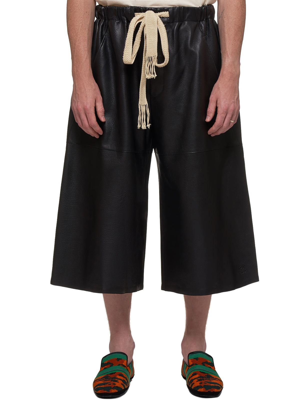 Loewe Leather Shorts - Hlorenzo Front
