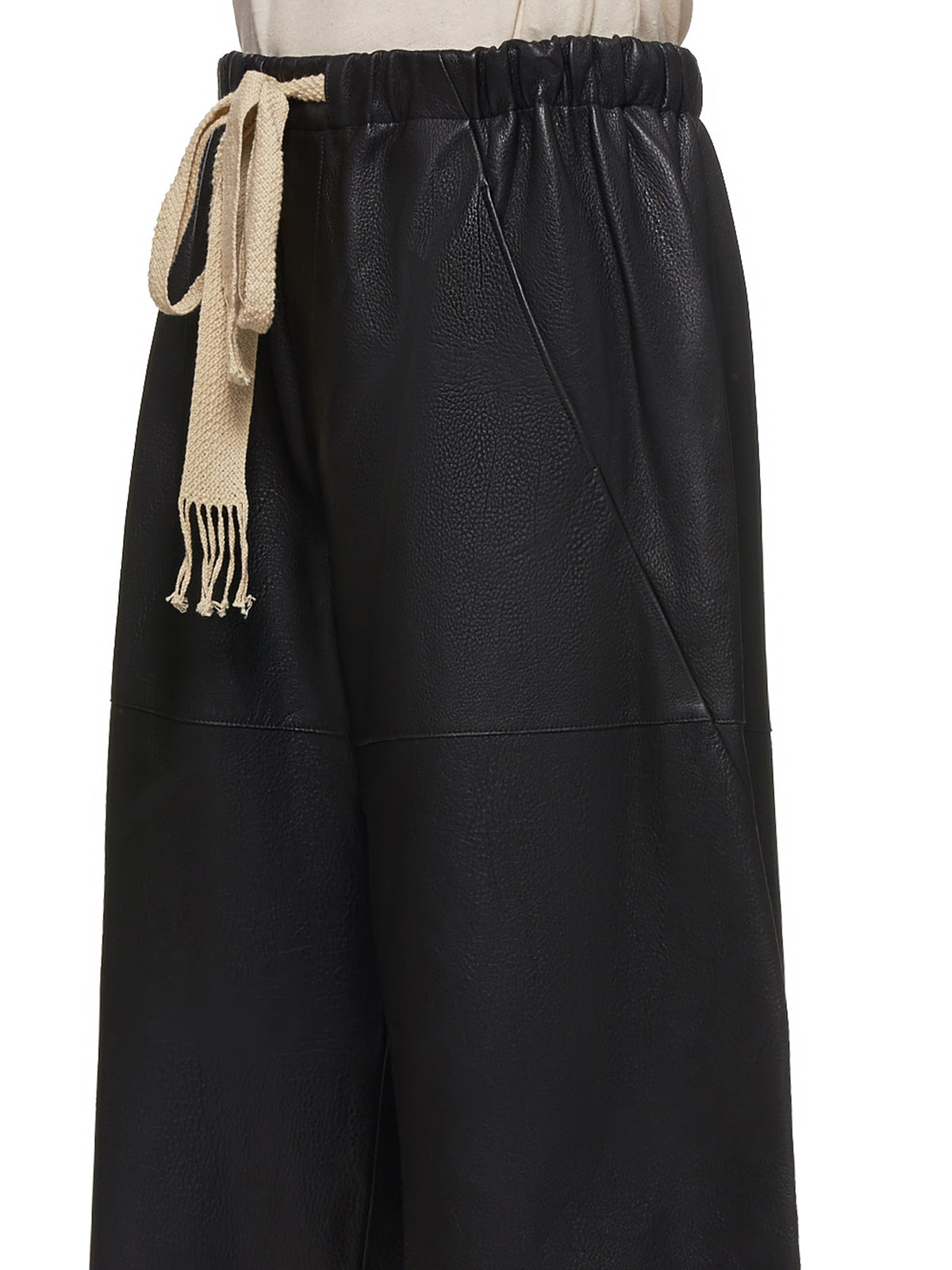 Loewe Leather Shorts - Hlorenzo Detail 2