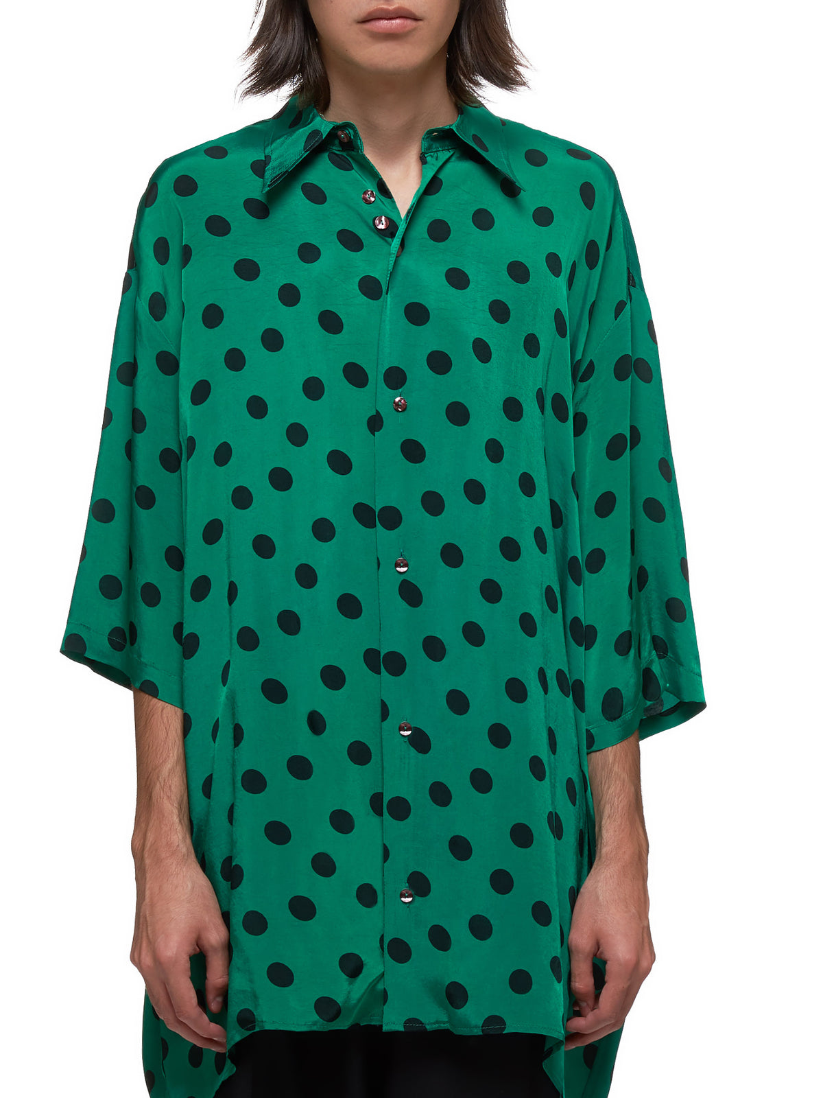 Polka Dot Shirt (H28006512-GREEN)